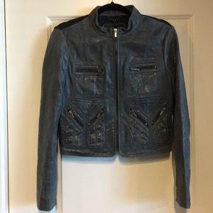 BCBGMaxAzria leather bomber jacket